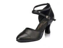 HXYOO Girls Latin Dance Shoes Women Ballroom Shoes Ladies Salsa Satin Soft Sole Buckle GM35
