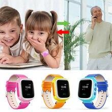 Q80 Anti-lost Children Kids Smart Wrist Watch Tracker SOS SIM Location Color Scr