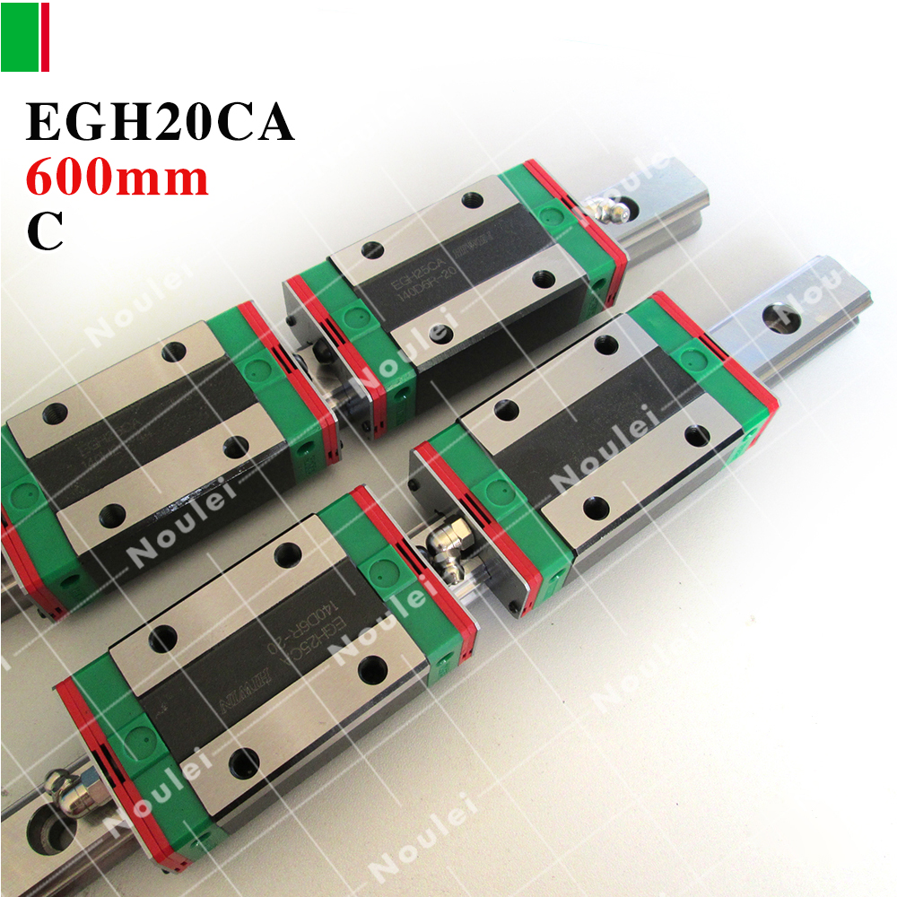 HIWIN EGH20CA slide block with 600mm linear guide rail EGR20 for CNC parts guida lineare hig quality linear guide 1pcs trh25 length 1200mm linear guide rail 2pcs trh25b linear slide block for cnc part