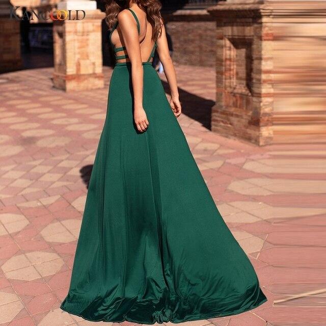 KANCOOLD robe mode femmes soirée été robe Sexy Camisole sans manches col en v fourchette ouverture fête nouvelle robe femmes 2019Apr24