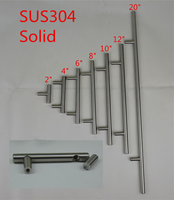 Sus304 Solid Stainless Steel Kitchen Door Cabinet Handle Pull Knob 2
