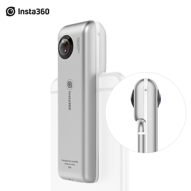DHL Free Insta360 Nano Mini 360 Video Camera 3K HD Panoramic Panorama VR Camera 360 Cam for iPhone 7 / 7 / 6s / 6s Plus / 6 Plus