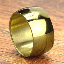 Darmowa wysyłka 12mm szerokości 316L ze stali nierdzewnej biżuteria ze stali nierdzewnej męska błyszczący panoramiczny pierścień tytanu stali nierdzewnej drobne biżuteria obrączki tanie tanio Pierścionki Moda Zespoły weselne TRENDY Mężczyźni Brak Metal Ślub Okrągły R102gold