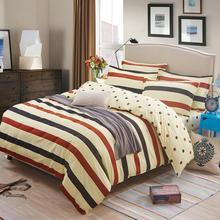 British Style Brand Logo Yellow Plaid Stripes Bedding Set Famous Bed Linen Bedclothes 3 4pcs Duvet