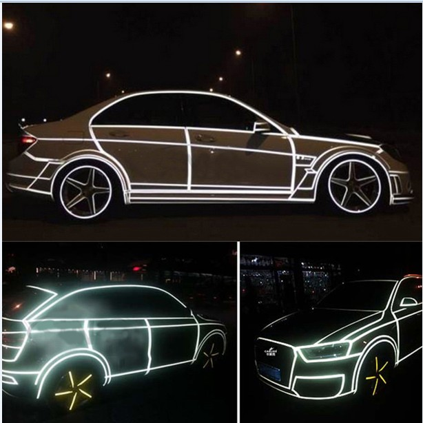 2cm*500cm Car Reflective Tape Decoration Stickers Car Warning Safety Reflection Tape Film Auto Reflector Sticker on Car Styling