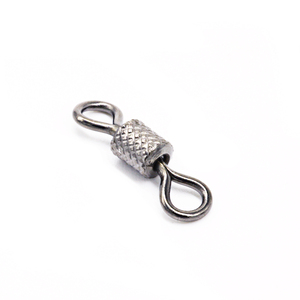 Image 1 - 100pcs Stainless Steel Ball Bearing Rolling Swivel Fishing Connector Accessories Sea Hook Lure Hook Snap Tackle Winter Fish Gear