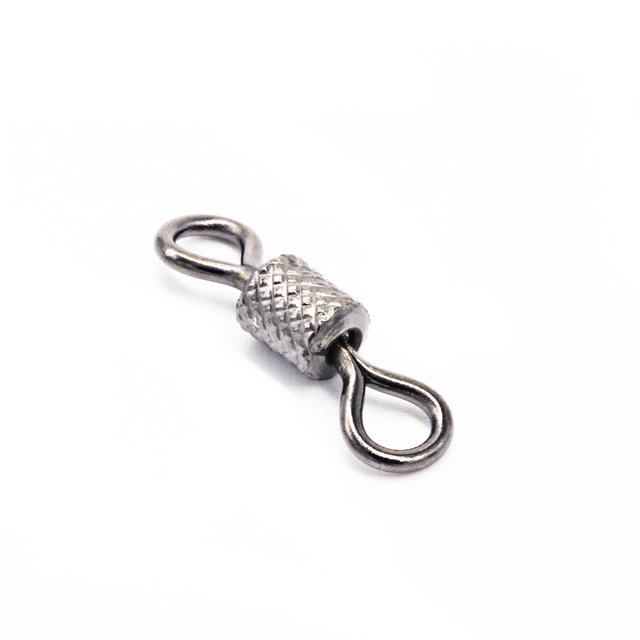 100pcs Stainless Steel Ball Bearing Rolling Swivel Fishing Connector Accessories Sea Hook Lure Hook Snap Tackle Winter Fish Gear