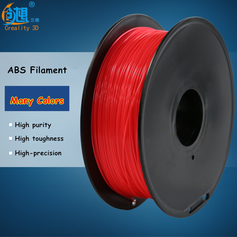 20 Colors (can choose) Creality 3D Printer Filament ABS 1.75 mm PLA Materials for 3D Printer /3D Printing Pen 1kg Free Shipping 3d printer filament abs pla 1 75mm with 30 colors for 3d printing pen 3d printer 3d model creation plastic material supplies