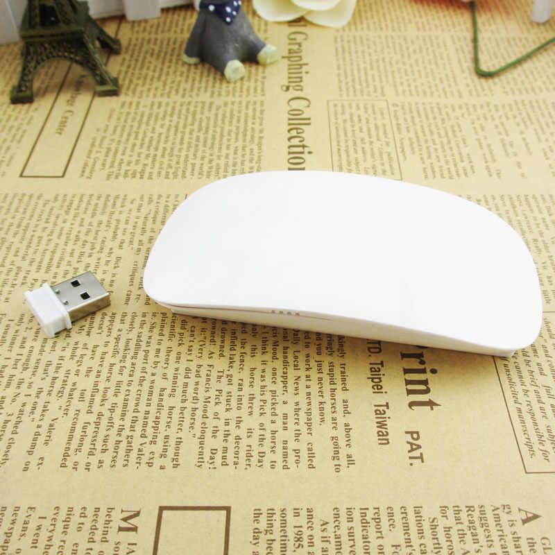 Ergonomik USB Kablosuz Ince Fare Dokunmatik Şerit Kaydırma Sihirli 2.4G 1200 DPI Optik Mini Fare Apple Laptop için masaüstü bilgisayar