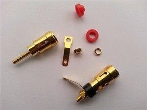 Image 4 - 50 PIÈCES mini En Laiton Plaqué Or Haut Parleur Terminal AMP Reliure À Ressort De Type Presse