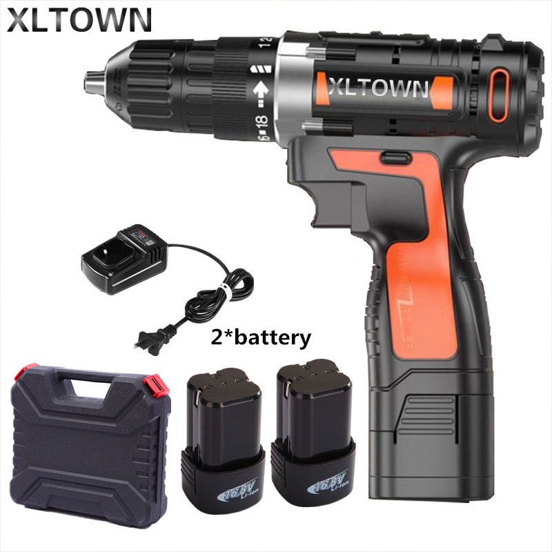 Xltown 16.8v Cordless Mini Electric Drill Rechargeable Multi-energy lithium battery  electric screwdriver power tools wosai 20v lithium battery max torque 380n m 4 0ah brushless electric impact wrench diy cordless drill cordless wrench