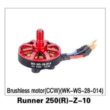 CCW Motor Sin Escobillas (WK-WS-28-014) Runner 250 (R)-Corredor de la Z-10 para Walkera 250 Antelación GPS RC Drone Quadcopter Piezas Originales