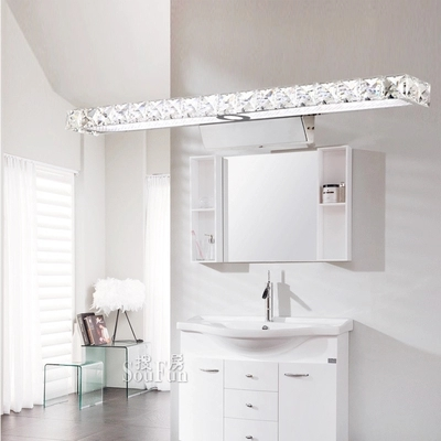 Simple Modern Crystal Wall Sconce Bathroom Wall Lamp LED Mirror Light Fixtures For Home Indoor Lighting Lampe Murale Lampara mirror high quality k9 crystal led wall lamp sconce post modern coffee shop decatarion lighting fixture indoor wall lamps abajur