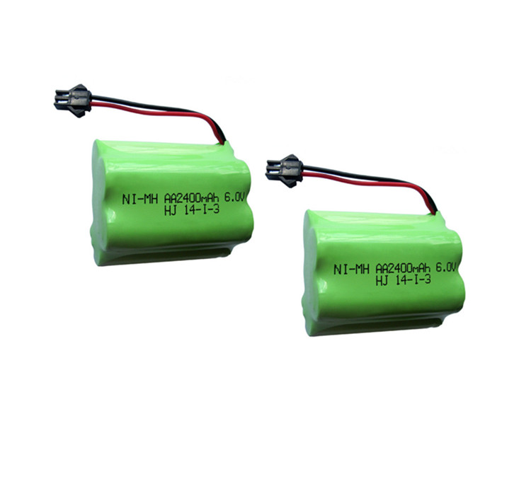 2pack 6v battery 2400mah ni-mh bateria 6v nimh battery pack 6v size aa rechargeable ni mh for lighting rc car toy electric tools