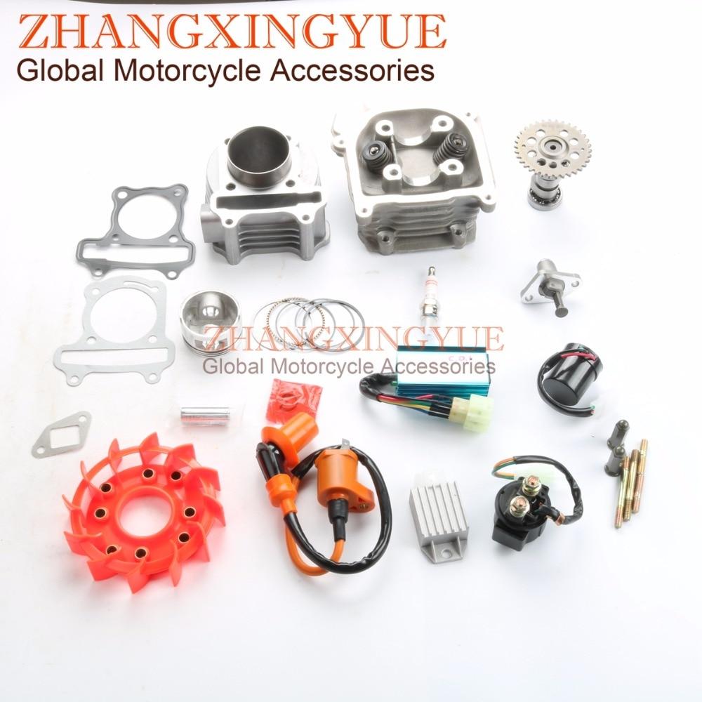 все цены на 80cc Big Bore Kit Performance Cam CDI Coil Variator Carburetor GY6 139QMB 47mm онлайн