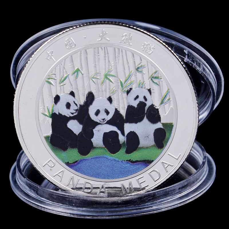 2019 Bộ Sưu Tập Nghệ Thuật-Màu Đen Và Trắng Gấu Đồng Tiền Lớn Panda Baobao Trung Quốc Kỷ Niệm