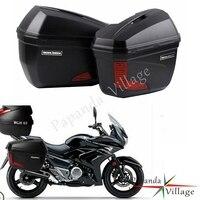 Универсальный черный мотоцикл 20L боковые Чехлы Panniers боковой хвост верхняя коробка багажная коробка для BMW Honda Yamaha Suzuki Kawasaki