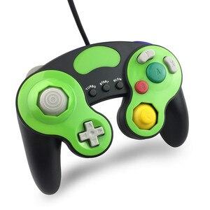 Image 5 - Wired Gamepad בקר עם שלושה כפתור עבור משחק קוביית N G C כף יד ג ויסטיק