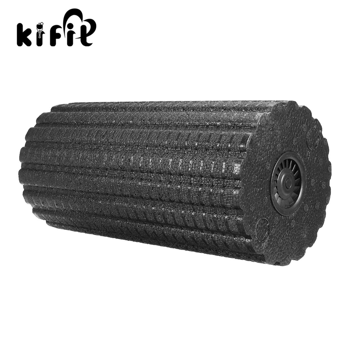 Kifit 1 pcs Yoga Massage Electric Vibrator Relaxing Foam Roller Massage Electric For Fitness Roller Body Slimming Massage Roller new yoga pilates exercise high density eva foam massage roller fitness home gym massage