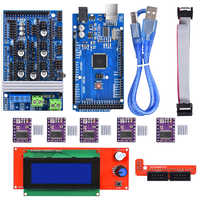 3D printer Ramps 1.6 board upgrade base on Ramps 1.4 1.5 +Mega 2560 R3 Reprap Mendel+2004 LCD Display +DRV8825 A4988 driver