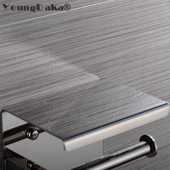 SUS 304 In Acciaio Inox Nero e Specchio del Bicromato di potassio Scelta Igienica Supporto Di Carta Tissue Scatola di Carta Rotolo di Supporto di Carta Accessori Per il Bagno