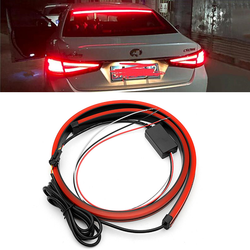 Red Flowing Brake <font><b>Light</b></font> Flashing Flexible Turn Signal <font><b>Light</b></font> Strip <font><b>LED</b></font> Warning <font><b>Light</b></font> For <font><b>VW</b></font> <font><b>T5</b></font> Golf Polo Passat Mazda CX-5 3 6 image