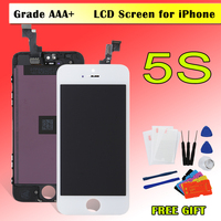 1pcs Display For IPhone 5S LCD Digitizer With Touch Screen Earmesh Complete Assembly Replacement A1459 A1457