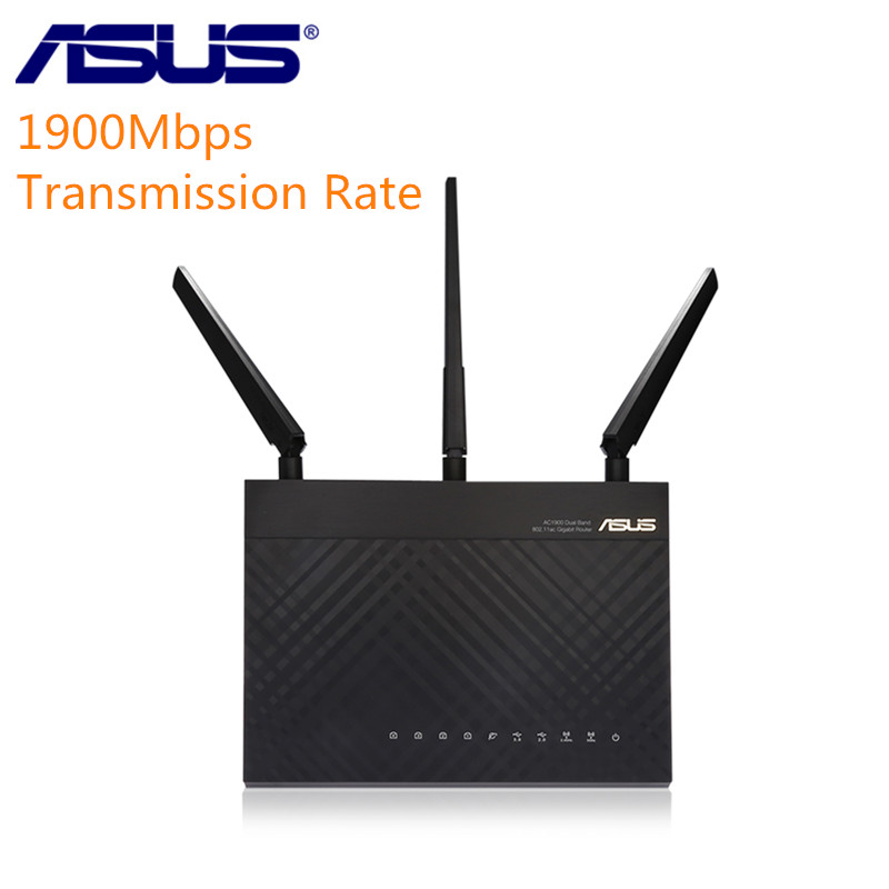 ASUS RT-AC1900P WiFi Router 1.4GHz Dual-Band Gigabit 256MB RAM Wireless Router Firewall Settings With 4 Antennas цена и фото