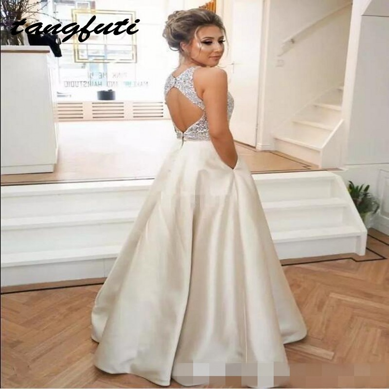 Long   Prom     Dresses   Beaded Satin Party   Dresses   for Graduation Formal Evening   Prom   Gowns   Dresses   Wear vestidos de formatura