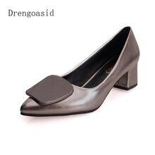 Женская обувь большого размера модная кожаная женская тонкие