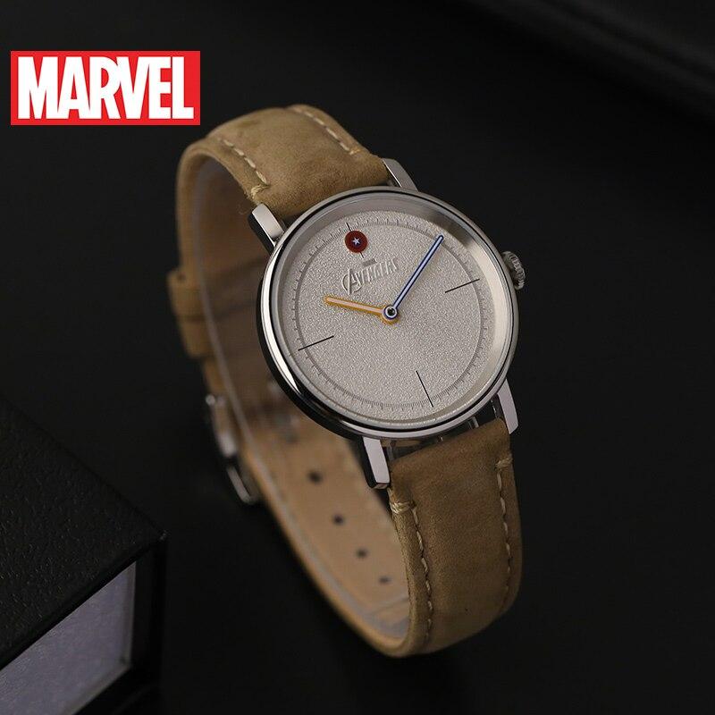 Marvel Avengers femmes bracelet en cuir étanche montres à Quartz dames Captain America Hero montre à la mode Top Femme Disney horloge nouveau - 6