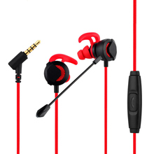 In-Ear Gaming Headphones with Dual Mic, Wired Earbuds Earphones 3 Pairs Different Sizes for PS4, Xbox, PC