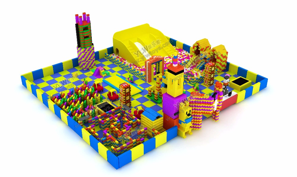 HOT sales soft indoor playground with million ball poolkids environmental protection indoor big EPP block parks YLW-EPP0322 ylw ce approved supermarket kids indoor playground equipment golden factory indoor soft play system