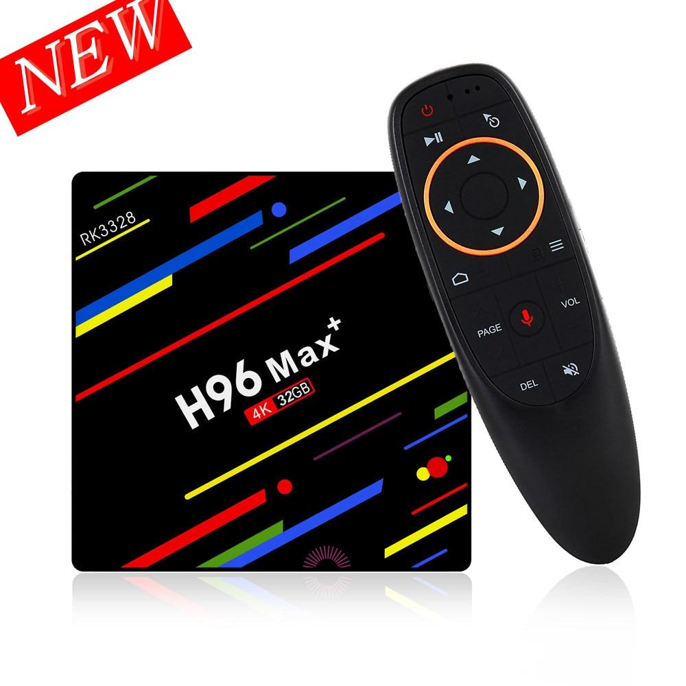 цена на H96 MAX Plus RK3328 4G/32G Android 8.1 USB3.0 Voice Control HD H.265 Smart TV Box Support HD Netflix Dual Wifi 2.4G 4K Youtube