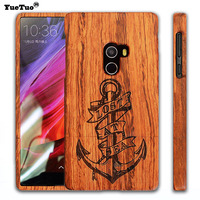 Luxury Real Genuine Rosewood Coque Case For Xiaomi Mi Mix Mimix By Wooden Laser Carving Phone