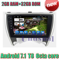 WANUSUAL 10.1 Android 7.1 Octa Core 32G 2G RAM Car Multimedia Player for Toyota Camry 2015 GPS Navigation Bluetooth WIFI Maps