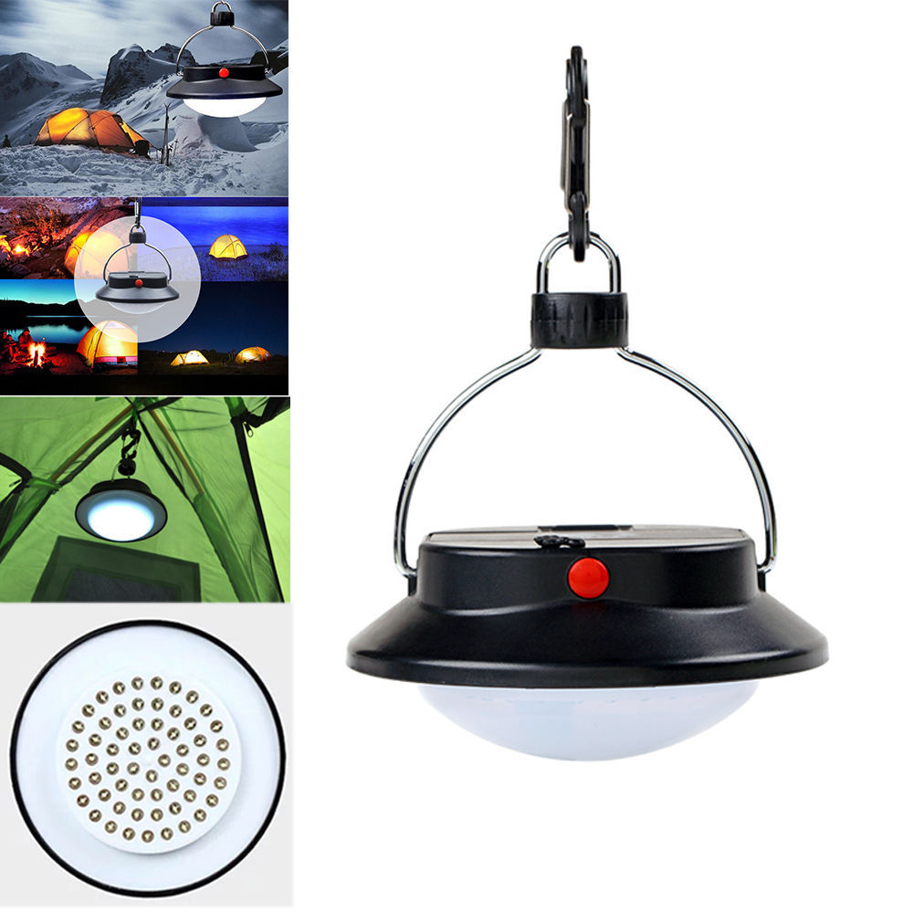Portable Outdoor Camping Fishing Lights 60 LED Dimmable Outdoor Tent Lamp Campsite Hanging Lamp 18650/3xAAA Battery operated