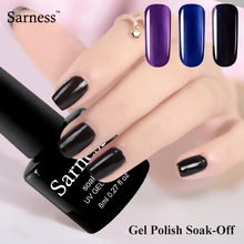 8ml Sarness Professional UV led gel font b nail b font polish lucky color font b