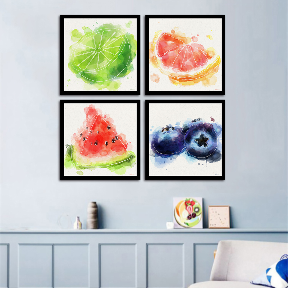 Abstract Modular Pictures Creative Fruit Poster Prints -8608