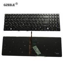 Gzeele teclado do portátil para acer M3-581G 581ptg V5-531 V5-551 ms2361 ru layout com luz de fundo preto substituir teclado