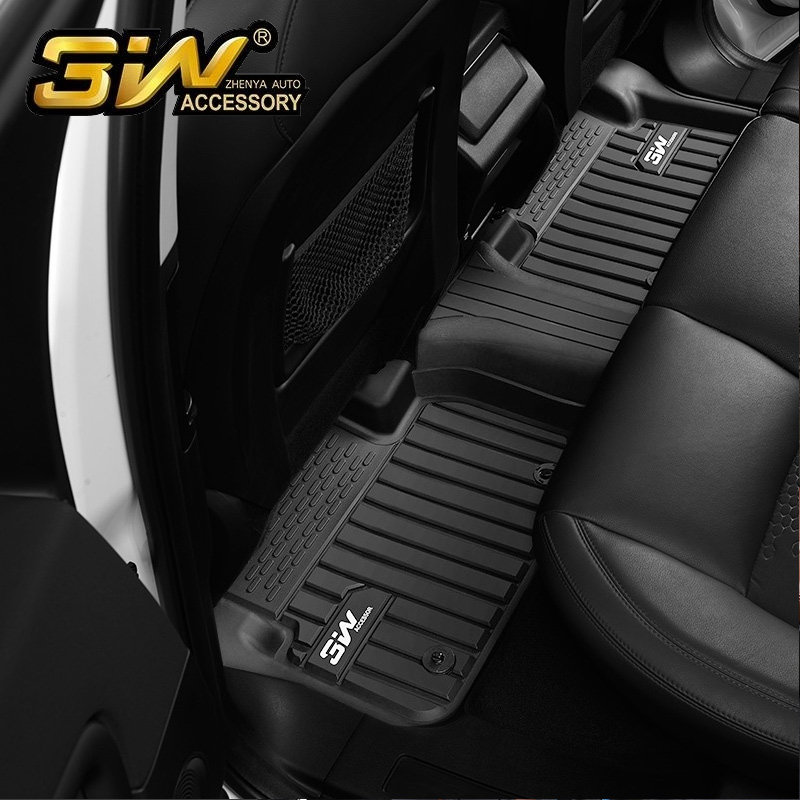 Car floor mats For Land rover Discovery Sport with 3w Customized Special tpe,black