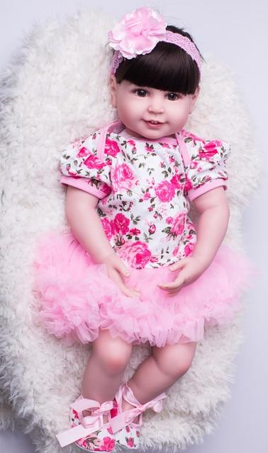 55cm Silicone Reborn Babies Doll Toys Girl Brinquedos Toddler Princess Baby Doll Child Kids Birthday Gift