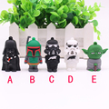 Real Capacity Star Wars R2D2 Robot 8GB 16GB 32GB 64GB Master Yoda Stormtrooper Pen driver Flash Disk Darth Vader USB Flash Drive