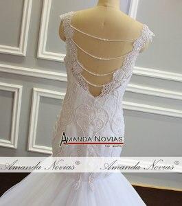 Image 5 - חתונה זר בת ים פניני חתונה שמלה עם נחמד בחזרה לקוחות סדר
