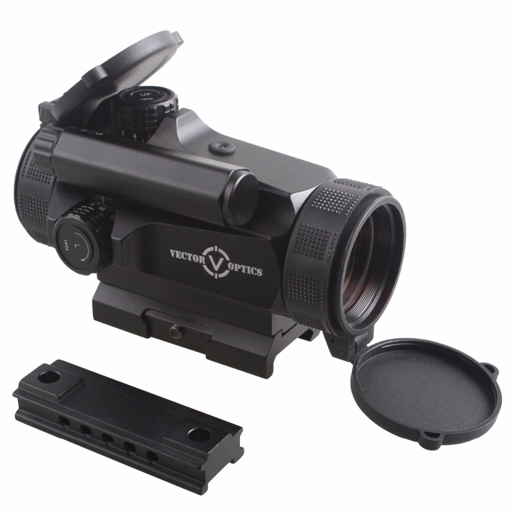 Vector Optics Hunting 1x30 Reflex Red Dot Sight Scope 3 MOA Auto Brightness Dot fit AK47 AR15 9mm Laru Picatinny Weaver Rail