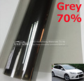 50CMX300CM/Lot Car Side Window Tint Film Glass VLT 70% Grey Car Auto House Commercial Solar Protection Summer BY Free shipping