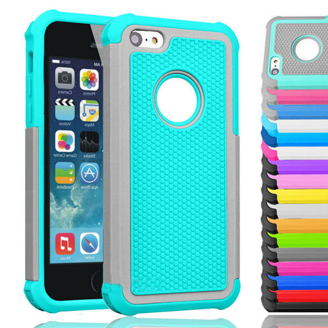 Silicone Shockproof for iPhone 5C Cases Rugged Rubber Protection Cover  Heavy Duty Hard PC Cases for Apple iPhone 5C Covers Skin-in Fitted Cases  from ... db286124088