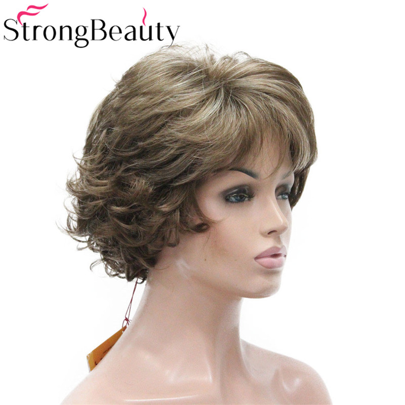 Image 2 - StrongBeauty Short Curly Synthetic Wigs Heat Resistant Capless Hair Women Wig-in Synthetic None-Lace  Wigs from Hair Extensions & Wigs