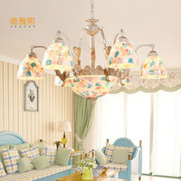 Color Glass Home Chandelier Modern Lustres De Glass Living Room Indoor Lamp Decoration