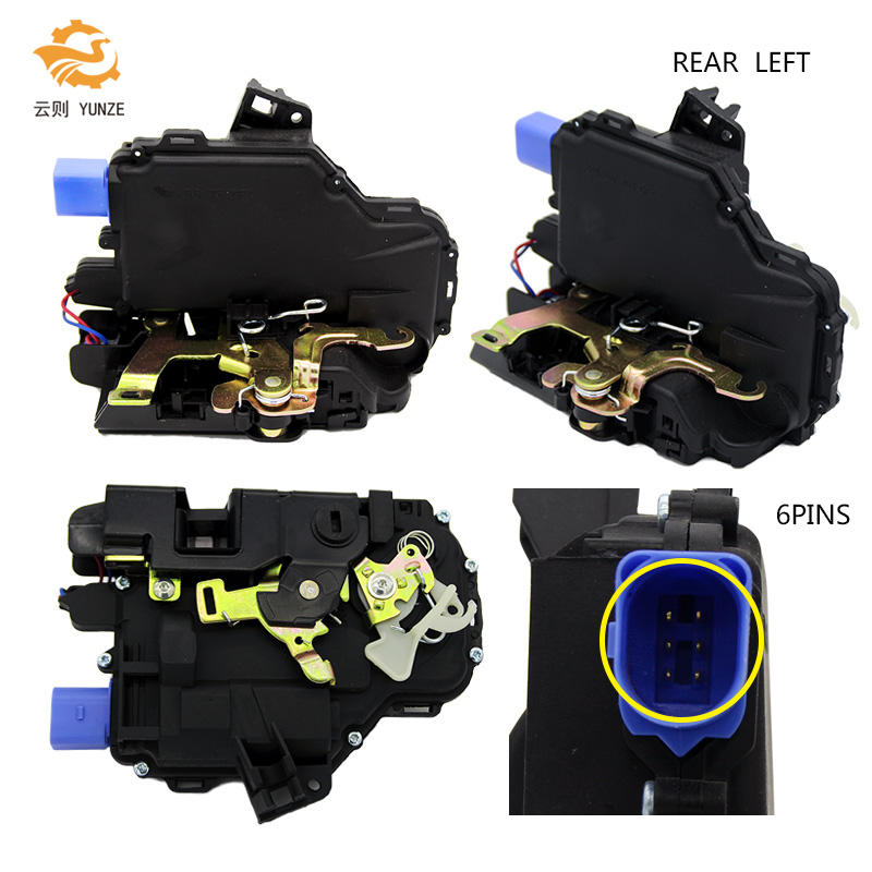 3B4839015AG REAR LEFT SIDE CENTRAL DOOR LOCK ACTUATOR FOR SKODA FABIA SEAT IBIZA CORDOBA VW POLO 9N VW T5 TRANSPORTER